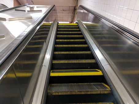 Escalator, Nyc Subway Escalator, Urban, Nyc, Subway