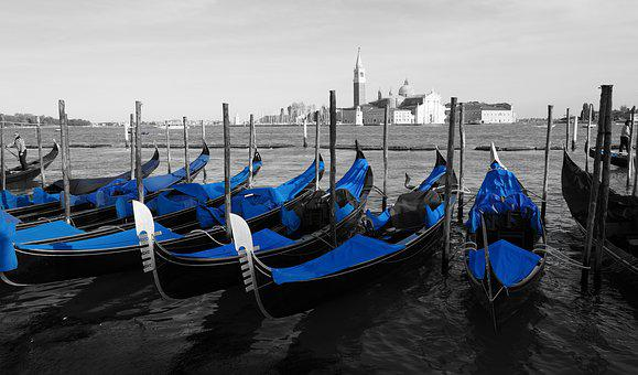 Venice, Gondolas, Architecture, Italy, City, Old Houses