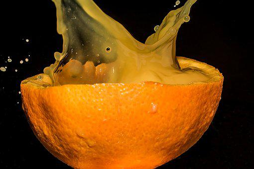 Oranges Half, Half Of The Oranges, Orange Juice, Spray