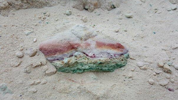 Stone, Multi Coloured, Color, Copper, Metal, Ore, Sand