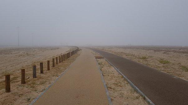 Path, Beach, Sand, Fog, Walk, Loneliness, Portugal
