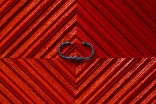 Texture, Wood, Door, Red, Door Knob, Structure