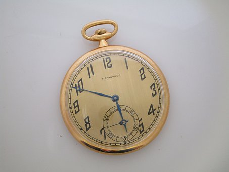 Vintage, Tiffany, Pocket Watch, Antique, Time, Classic