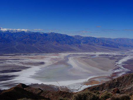 Badwater, View Of Dante, Death Valley, Nevada, Usa