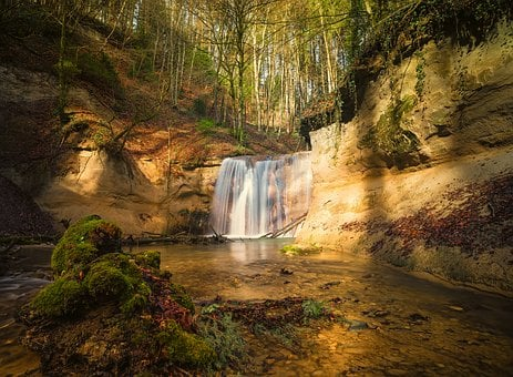 Waterfall, Background, Screen Background, Nature, Water