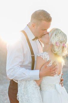 Wedding, Pair, Romantic, Love, Romance, Bride And Groom