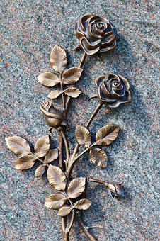 Roses, Bronze, Forged, Art