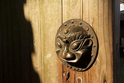 Antiquity, Door Handle, Chinese Traditional