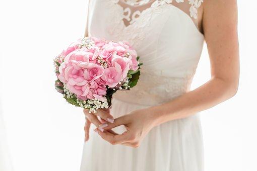 Bride, Strauss, Wedding, Married, Love, Flowers
