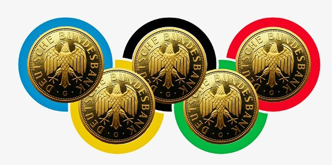 Olympia, Olympic Gold, Competition, Gold, Germany Flag