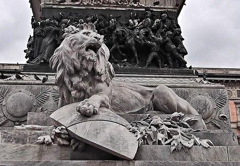 Lion, Statue, Monument