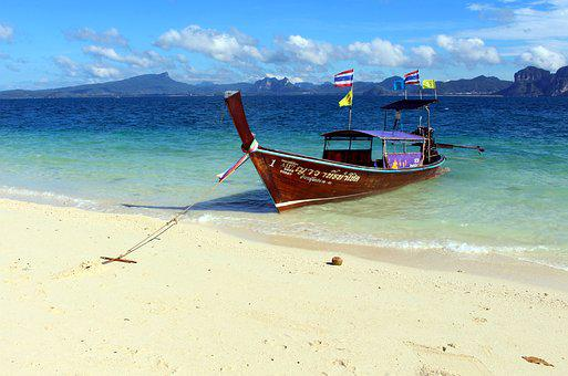 Poda Island, Thailand, South East Asia, Longtailboat