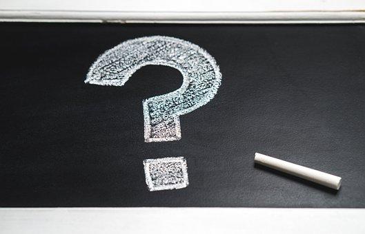 Chalkboard, Education, Question Mark, Hand Drawn
