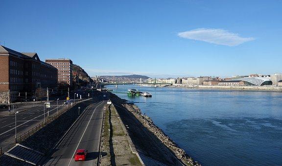 Landscape, Danube, Budapest, Capital, River, Sunday