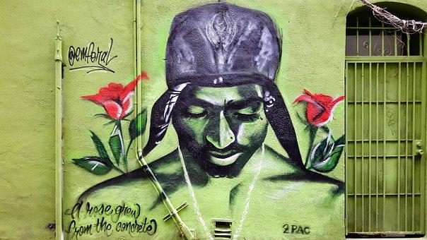 Graffiti, Head, Face, Spray, Portrait, Wall, Street Art