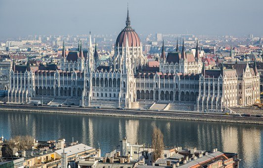 Hungary, Parliament, Budapest, River, Danube, Building