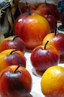 Candles, Candle Wax, Apple, Red, Yellow, Wax