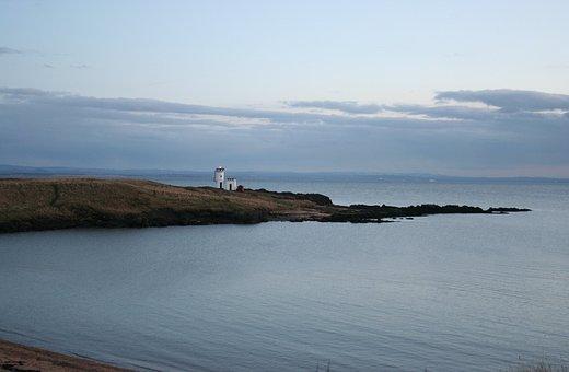 Scotland, Lighthouse, Bay, Sea, Coast, Landscape, Rock