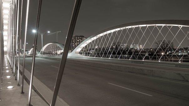 Bridge, Structure, Steel, Concrete, Architecture