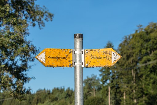 Signposts, Hiking Trails, Shield, Direction, Directory