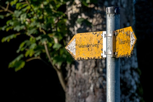 Trail, Directory, Shield, Direction, Signposts, Nature