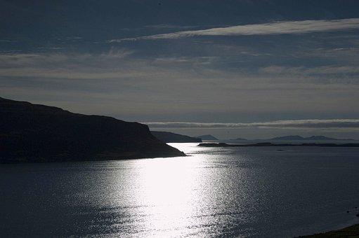 Landscape, Island, Moonlight, Hebrides, Highlands