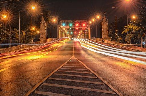 Bridge, Lane, Road, Bridge Construction Long Exposure
