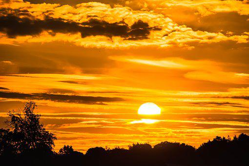 Sunrise, Sun, Morgenrot, Mood, Sky, Skies, Morning Sun