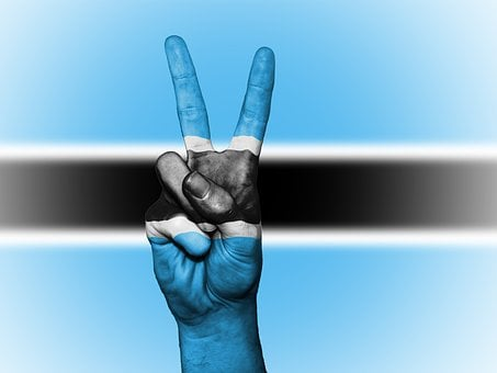 Botswana, Flag, Peace, Background, Banner, Colors