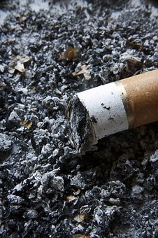 Smoking, Ash, Cigarette, Butt, Toxic, Addiction