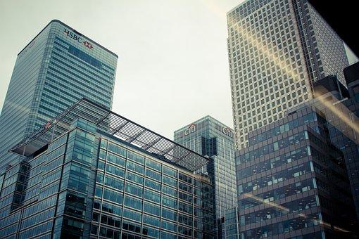 City, London, Building, Finance, Glass, Cloudy Sky