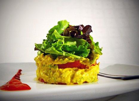 Salad, Chicken, Curry, Restaurant, Dish, Food, Rico