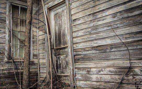 Old, Wood, Door, Abandoned, Weathered, House