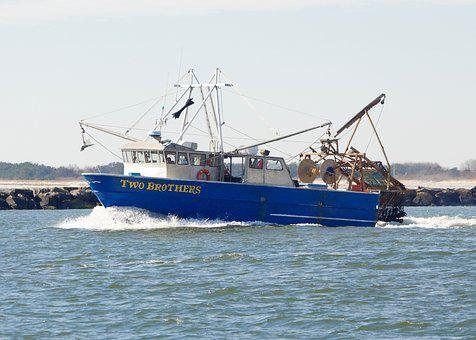 Boat, Fishing, Fishing Boat, Commercial, Inlet
