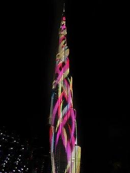 Burj Khalifa, At Night, Dubai, Khalifa