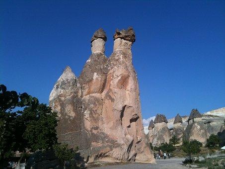Rocks, Cappadocia, Turkey, Formation, Caves, Landmark