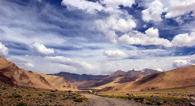 Leh, Ladhak, Travel, Clouds, India, Himalayas
