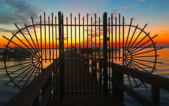 Gateway, Sunrise, Sky, Scenic, Morning, Tourism