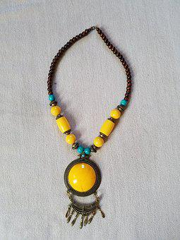 Necklace, Beads And Pendant