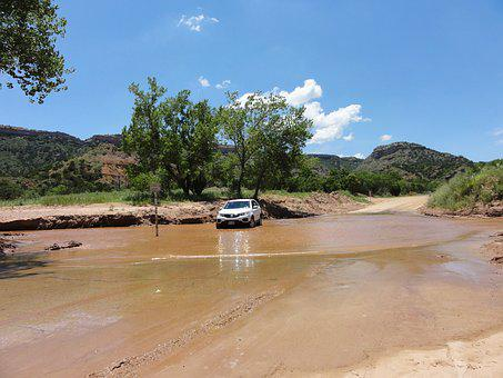 Auto, Stuck In A Rut, Mud Hole, Off Road, Water Hole