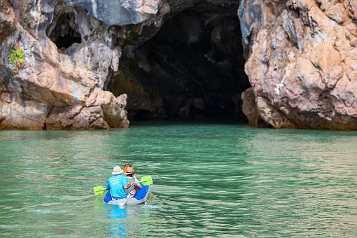 Cave, Canoe, Travel, Vacation, Sea, Water, Leisure