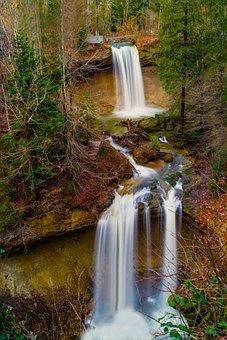 Waterfall, Nature, Waterfalls, Landscape, Water