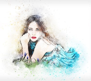 Woman, Art, Abstract, Lying Down, Vintage, Girl, Beauty