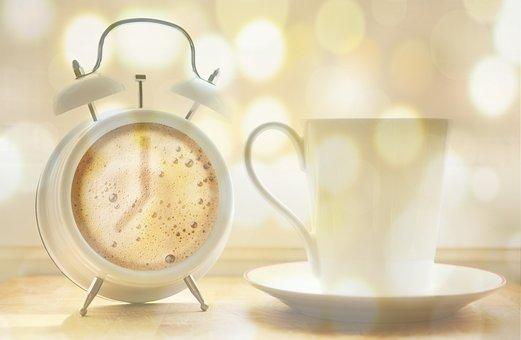 Alarm Clock, Coffee Cup, Coffee, Coffee Dial
