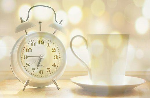 Alarm Clock, Coffee Cup, Time Of, Arouse