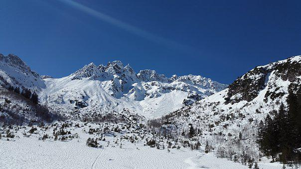 High Tip Of The Miter, Allgäu, Fiderepass, Winter, Snow