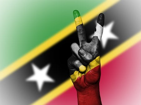 Saint Kitts And Nevis, Peace, Hand, Nation, Background