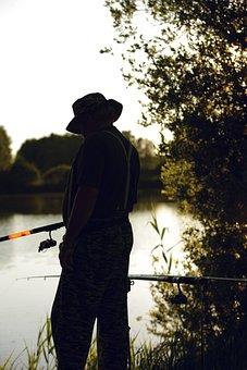 Fish, Man, Water, Fischer, Lake, Fishing, Rest, Nature