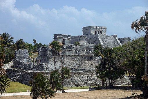 Tulum, Maya, Mexico, Yucatan, Ancient, Caribbean