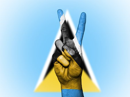 Saint Lucia, Peace, Hand, Nation, Background, Banner